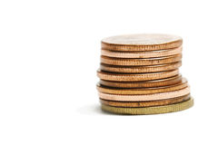 Copper Coins Group Stock Photo