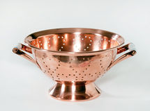Copper Colander with Ceramic Handles Stock Photography
