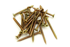Copper color screw Royalty Free Stock Photos