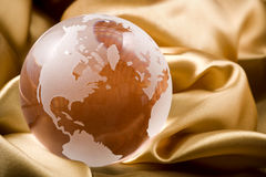 Copper colored glass globe Stock Photography