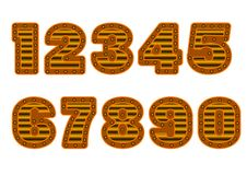 Copper colored numbers Royalty Free Stock Photography