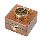 Copper compass Royalty Free Stock Photos