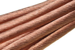 Copper, the concept for the energy industry Royalty Free Stock Photography