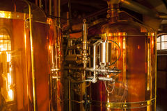Copper container for whisky. Stock Photography