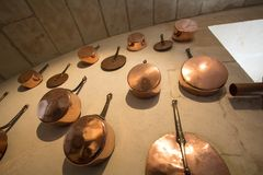 Copper cookware Stock Image
