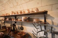 Copper cookware Stock Photo