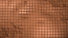 Copper cubes background Royalty Free Stock Photo