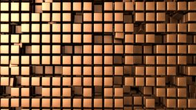 Copper cubes background Stock Image