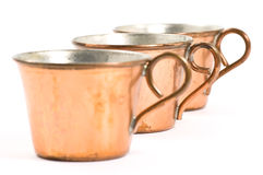 Copper cups Stock Photos