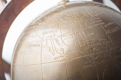 Copper Desk Globe Royalty Free Stock Photos