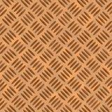 Copper diamond plate Stock Image