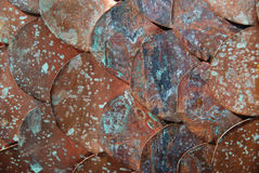 Copper discs Stock Images
