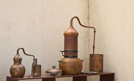 Copper Distillery stock image