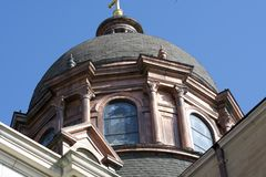 Copper dome on a Basilica royalty free stock image
