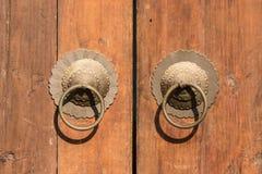 Copper door knocker Stock Photo