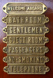 copper door plates Royalty Free Stock Photos