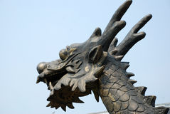 Copper dragon head Royalty Free Stock Photo