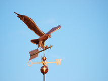 Copper Eagle weathervane on a Sunny Day Stock Photo