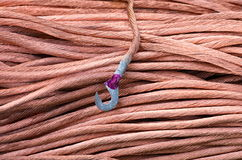 Copper earthing cable Royalty Free Stock Photo