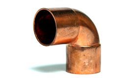 Copper Elbow. Used for plumbing Royalty Free Stock Images