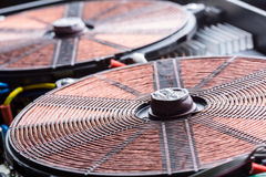 Copper electric coil macro detail Stock Image