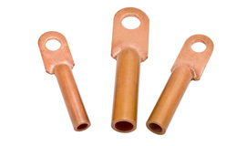 Copper electric terminals Royalty Free Stock Photo