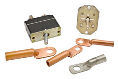Copper electric terminals Royalty Free Stock Photography