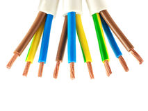 Copper electric wires Royalty Free Stock Photography