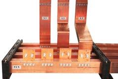 Copper electrical bus Stock Photos