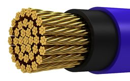 Copper electrical cable. On a white background Stock Images