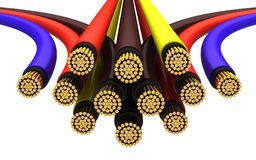 Copper electrical cable Royalty Free Stock Images