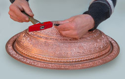 Copper engraving Stock Photography