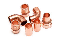 Copper fittings royalty free stock image