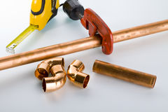 Copper fittings Royalty Free Stock Photography