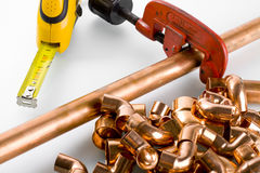 Copper fittings Stock Photos