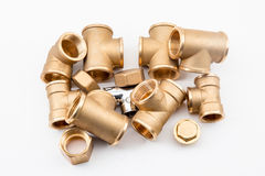 Copper fittings Stock Photography