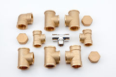 Copper fittings Royalty Free Stock Photos
