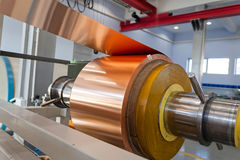 Copper foil bending machine Royalty Free Stock Image