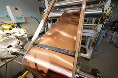 Copper foil bending machine Royalty Free Stock Photo