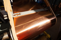Copper foil bending machine Stock Photos