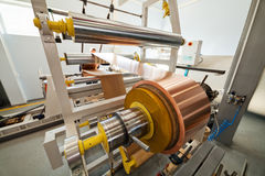 Copper foil bending machine Royalty Free Stock Photography