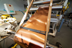Copper foil bending machine Royalty Free Stock Images