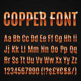 Copper font Royalty Free Stock Photography