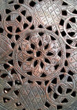 Copper fret-work. Hand-made copper fret-work of Iranian origin Royalty Free Stock Photo