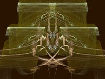 Copper on Gold. Apophysis abstract, best viewed full size, many details Royalty Free Stock Photography