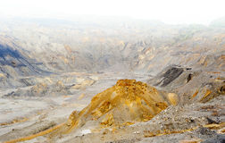 Copper, gold and silver quarry. In Europe. Surface mining Stock Photos