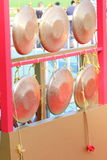 Copper Gong Stock Photo