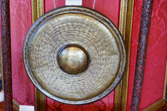 A copper gong in a mansion Royalty Free Stock Images