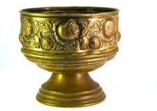 Copper Grail. A ornamented copper made grail Stock Photos