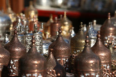 Copper handcrafts Stock Image